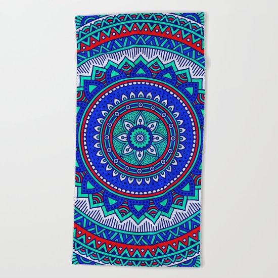 Hippie mandala 28 Beach Towel
