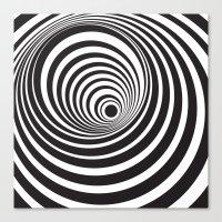 vertigo Canvas Prints featuring Vertigo by General Design Studio