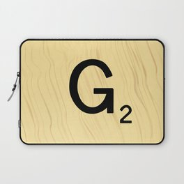 Scrabble G Decor, Scrabble Art, Large Scrabble Prints, Word Art, Accessories, Apparel, Home Decor Laptop Sleeve