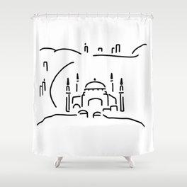 istanbul hagia sophia Shower Curtain