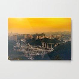 Guiyang China Cityscape at Sunset Metal Print