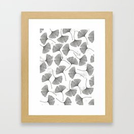 ginkgo biloba pattern Framed Art Print