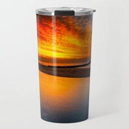 Old Lighthouse Sunset Travel Mug