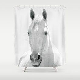 White Horse Photograph Shower Curtain