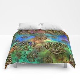 Mosaic of Elephants Comforters