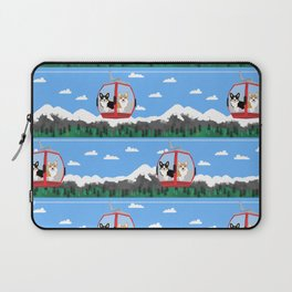 Gondola corgis telluride ski slopes custom dog Laptop Sleeve