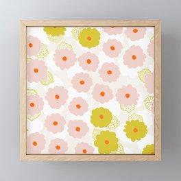Olivia, flower child Framed Mini Art Print