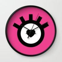 lolita Wall Clocks featuring Lolita by Aurelie Scour