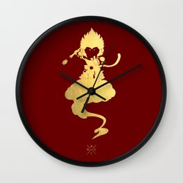 Chibi Golden Monkey Luck Wall Clock