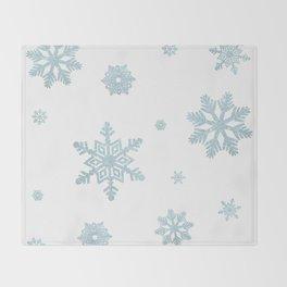 Glitter Snowflakes Throw Blanket