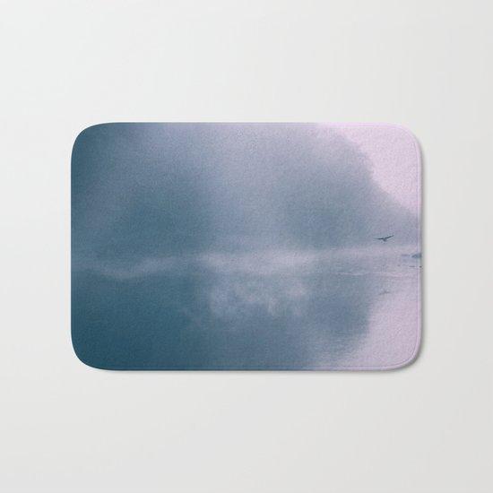 Pastel Serenity - Misty River Scene Bath Mat