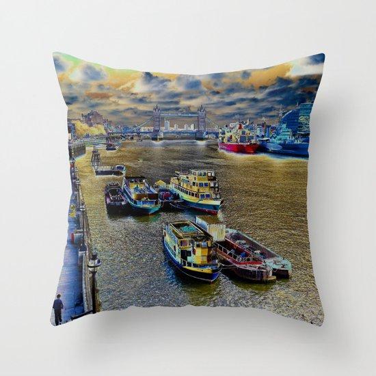 Thames Art View Throw Pillow