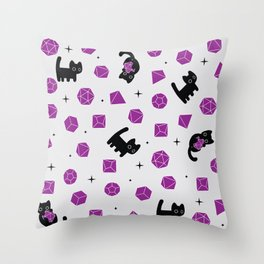 Smudge's Dice Set Pattern Throw Pillow