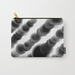 Ghostly Glowing Round Abstract - Black and White Carry-All Pouch