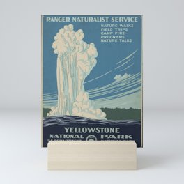 Vintage American WPA Poster - Yellowstone National Park (1938) Mini Art Print