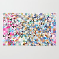 confetti Area & Throw Rugs featuring Confetti by FRAXTURED