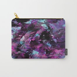 Dark Necessities - Abstract, textured, blue and purple oil painting Carry-All Pouch