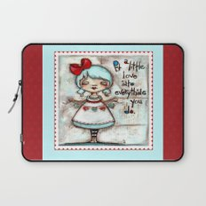 Made with Love - Heart String Tugger Laptop Sleeve