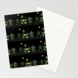 Haunted Houses Stationery Cards