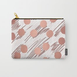 Scratch and Dot abstract minimalist copper metallic art and patterned decor Carry-All Pouch