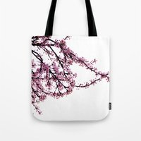 sakura Tote Bags featuring sakura by MILDA HE