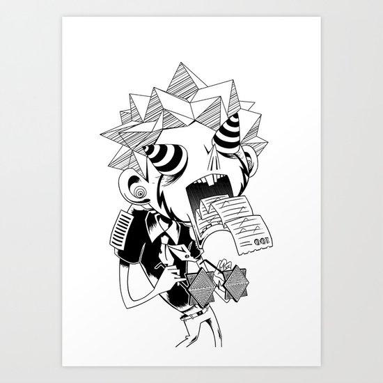 test taking machine Art Print