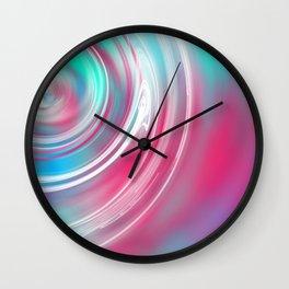 Decks Abstract Ripple Print Wall Clock