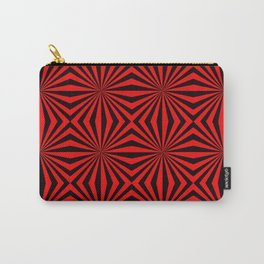 Red Black Dizzy Abstract Pattern Carry-All Pouch