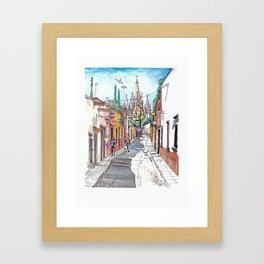 San Miguel Allende Street 1 Framed Art Print