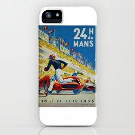 24hs Le Mans, 1959, vintage poster iPhone Case