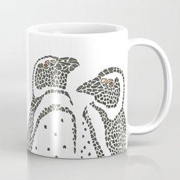Vanishing Penguins by Black Dwarf Designs Coffee Mug