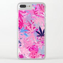Marijuana Cannabis Weed Pot Clear iPhone Case