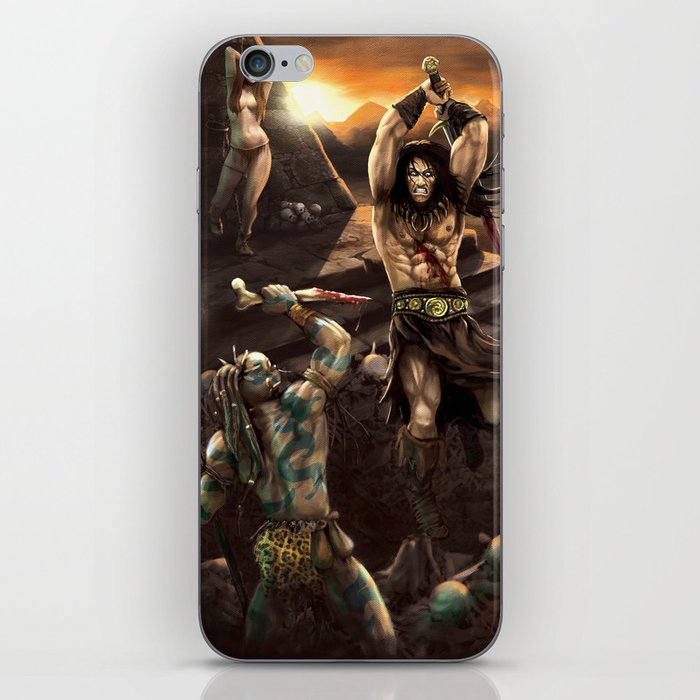 Barbarian battle iPhone Skin