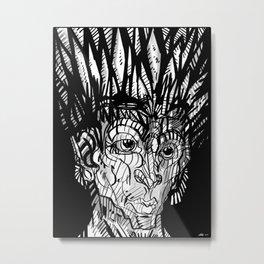 """Red Moon War Chief"" 2013 Metal Print"