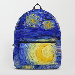 "Vincent Van Gogh "" Starry Night "" , Partial expansion Backpack"