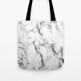 White Marble Texture Tote Bag