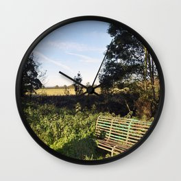 The Old Bench Wall Clock