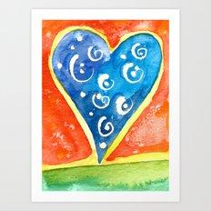 Heart I Art Print
