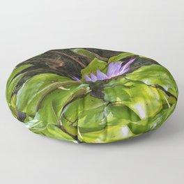 Exquisite water lily Floor Pillow
