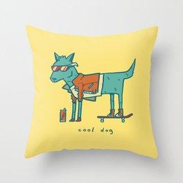 Cool Dog Throw Pillow