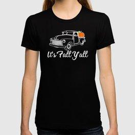It's Fall Y'all Pickup Truck Pumpkins T-shirt