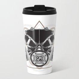 Gasmask Metal Travel Mug