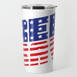4th Of July Independence Day Free & Brave Travel Mug