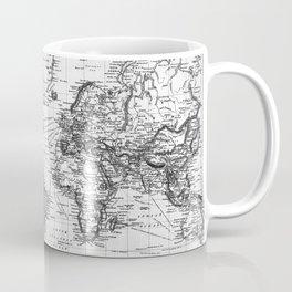 Black and White World Map (1892) Coffee Mug