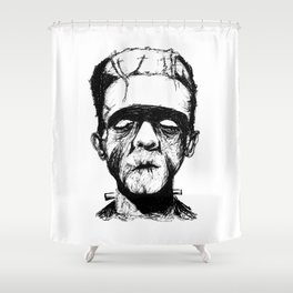 His Monster Shower Curtain