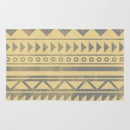 Ethnic geometric pattern with triangles circles and lines Rug