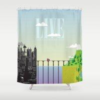 bridge Shower Curtains featuring Bridge by Norbert Demeter