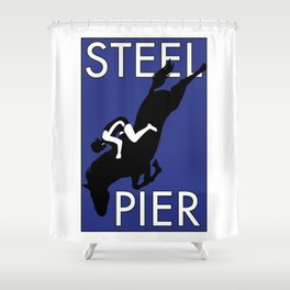 Atlantic City, NJ  Steel Pier Diving Horse Shower Curtain