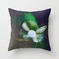 navy Throw Pillows featuring Navy by Stephano Herrera