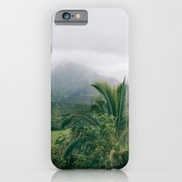 Hanalei Valley, Kauai Hawaii, Tropical Nature, Landscape Photography iPhone Case